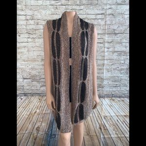 NWT Chico's Chestnut Randall Sweater Vest Size 2